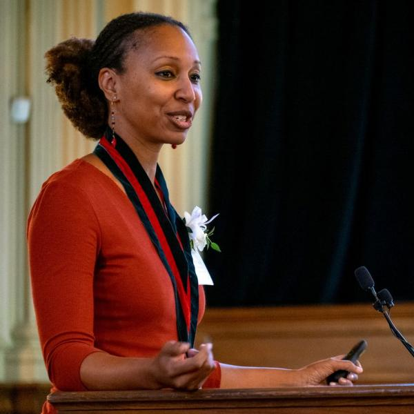 Adia Harvey Wingfield Inducted as the Mary Tileston Hemenway Professor of Arts and Sciences